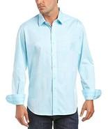 NWT ROBERT GRAHAM shirt XL aqua blue patchwork long sleeves sharp designer - $105.73