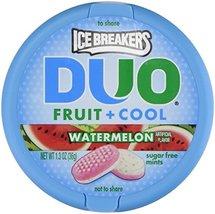 Ice Breakers Duo Fruit + Cool Watermelon Flavor Sugar Free Mints 8-1.3 O... - $18.59