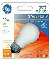 GE 99461 A15 Incandescent A-Line Ceiling Fan Bulb Soft White 355 Lumens image 2