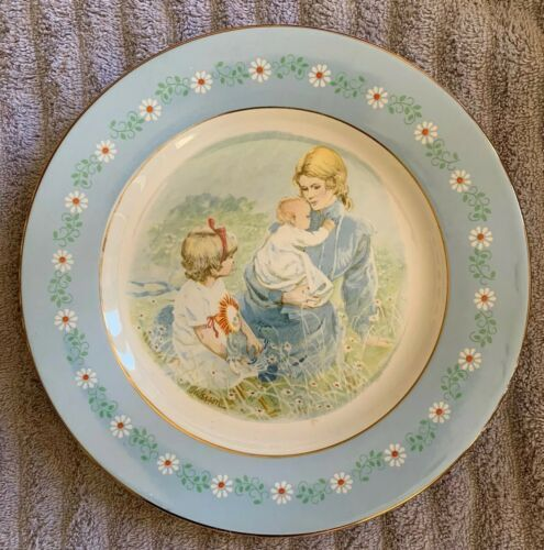 Primary image for Collectible Vintage 1974 Avon Tenderness Plate Mothers Day Pontessa Ironstone