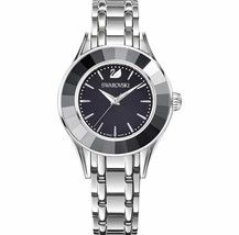 Swarovski Crystal ALEGRIA WATCH, METAL BRACELET BLACK SILVER Ladies Auth... - $296.01