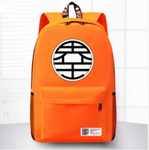 Dragon Ball King Kai Symbol Awesome Design School Backpack Orange - $59.90