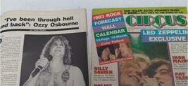 Vtg Heavy Metal Magazine Lot 8 Circus Creem 1982 1983 Van Halen Led Zeppelin image 5