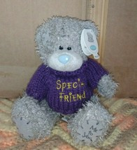 "Me To You Special Friend Gray Teddy Bear with purple sweater Plush beer 6"" - $9.99"