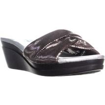 Bandolino Yeva Wedge Slip On Sandals, Dark Pewter, 8.5 US - $30.71