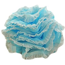 Set Of Two Lovely Soft Chiffon Lace Bath Ball Bath Spend More Upset(Blue)