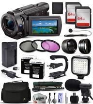 Sony FDR-AX33 4K HD Handycam Camcorder Video Camera + 128GB Accessories ... - $913.67