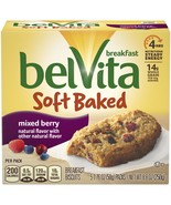 belVita Soft Baked Mixed Berry Breakfast Biscuits, 5 Packs (1 Biscuit Pe... - $5.00