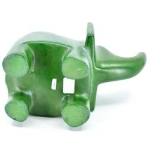 Vaneal Group Hand Crafted Carved Soapstone Large Heavy Green Elephant Sculpture image 5