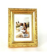 "Parisian Collection Bright Distressed Gold Filigree 3.5x5"" Picture Frame... - $13.99"