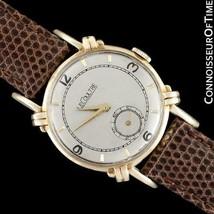 1947 JAEGER-LECOULTRE Vintage Mens Midsize Watch, Beautiful Case - 14K Gold - $1,416.10