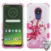 For MOTOROLA Moto G7 Power Spring Flowers/Pink TUFF Hybrid Phone Case Cover - $14.56