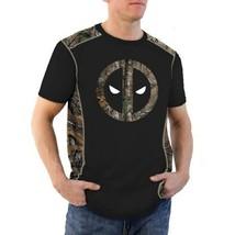 DEADPOOL MARVEL COMICS REALTREE MEN'S SMALL BLACK T-SHIRT NEW - $14.97