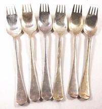 lot of 6 Antique vtg EPNS Sheffield England silver plate Knork forks - $51.48