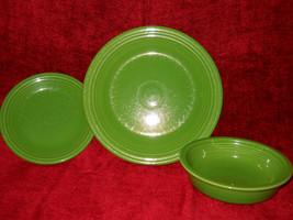 Homer Laughlin Fiesta 3 Piece Set Green - $14.80
