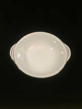 4 Noritake Colony pattern 5932 Lugged cereal bowls - Vintage 50s with platinum  image 3