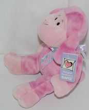 GANZ HE9835 Lambie 11 Inch Pink Tie Dye  With A Snowflake Bow image 4