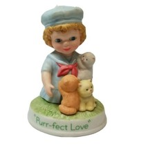 Avon Tender Moments Figurine 1991 God Bless My Day Porcelain  - $14.03
