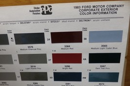 1983 Corporate PPG Paint Color Chips, AMC Renault Chrysler, Ford +, Free US Ship - $11.99