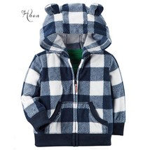 Baby boys Coat Kid Childrens Clothing Zipper Long-Sleeved Sweatshirt Hooded - $26.36 CAD+