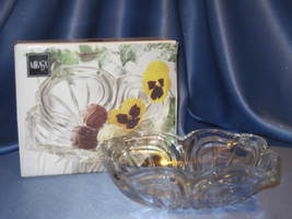 Crystal Bowl with Flores Pattern by Mikasa. - $19.00