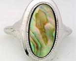 Paua shell silver plate avon ring  1  thumb155 crop