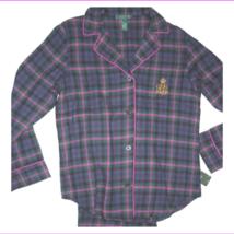 Ralph Lauren Womens Norwich Flannel Pajama Green (Top Only) Size 3XL  - $15.39