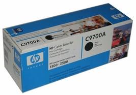 HP OEM Genuine C9700A 121A Color LaserJet 1500 2500 Toner Cartridge BLACK - $12.87