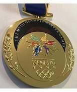 Nagano 1998 Olympic 'Gold' Medal with Silk Logo Ribbons !!! - $34.95