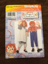 Halloween Party Costume Kids Masquerade Raggedy Ann Andy Twins Boy Girl ... - $19.99