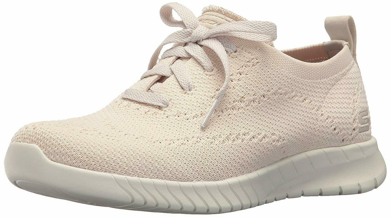 NEW Skechers Womens Natural Mesh Wave Lite-Pretty Philosophy Memory Foam Shoes 9