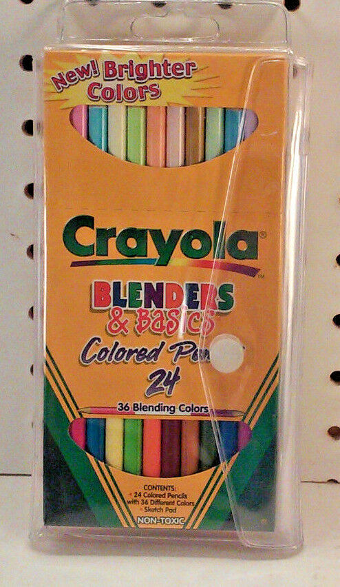 1 Pack Each B Crayola Colored Pencils Pre-Sharpened Assorted Colors 24 Count