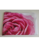 Crabtree Evelyn London Cosmetic Bag Rose Pink Zips Slightly Used  - $19.80