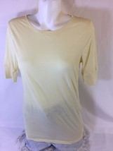 American Eagle Women Yellow Long Sleeve Blouse Size Large Bin59#17 - $10.40