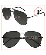 SAINT LAURENT CLASSIC 11 YSL 040 Matte Black Unisex Aviator Sunglasses 5... - $229.43