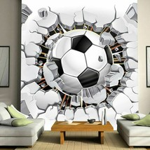 Football Broken Photo Wallpapers For Kids Room Boys Children Room Unique... - $13.43