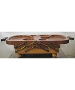 KAROFF Vintage Fold Away Buffet Wooden Tray FREE S&H NR 1950's Era - $35.00