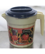 Vintage Gardeners Themed PACKER WARE Plastic Pitcher with Locking Lid 48... - $39.99