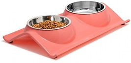 UPSKY Dog Bowls Elevated Dog Cat Bowls Double Premium Stainless Steel Pe... - $25.38