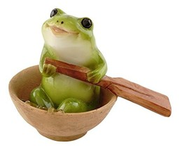 Top Collection Miniature Fairy Garden and Terrarium Frog Rowing Boat Fig... - $16.23