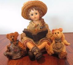 Boyds Bears Yesterdays Child Julia with Emmy Lou & Daphne +Garden Friends - $19.60