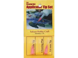 Sakura Hobby Craft Crystal Art Applicator Tip Set, 2 Tips