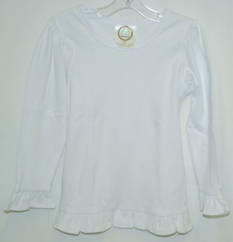 Blanks Boutique Long Sleeved Ruffle Shirt Color White Size 3T