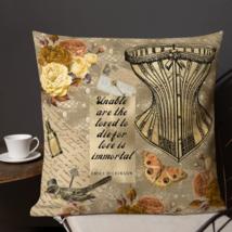 Steampunk Badge Corset Garden Patio Sofa Decorative Vintage Pillow Cushion  - $23.99+