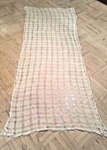 White Mohair & Silk Open Work Shawl/Wrap//Scarf - $21.04