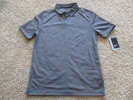 BNWT Nike Short Sleeve Pique Polo Golf Shirt - Big Kid Boys, XL, 915882, Grey - $26.72