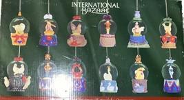 International Bazaar-12 Days of Christmas-Waterglobe Snow Globe Ornaments - $64.35