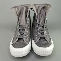 Converse CTAS Back Lace Hi Top Shoes Womens SZ 8 See Through Chucks Gray White image 7