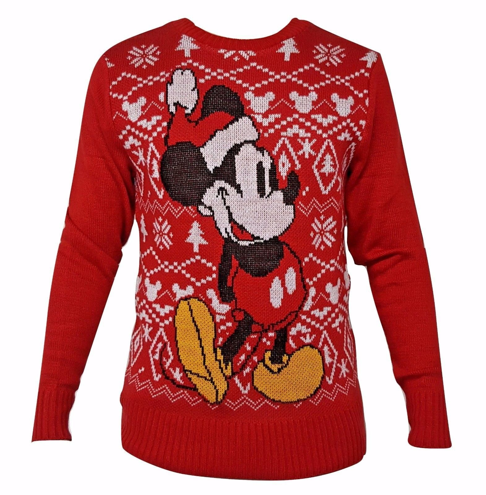 disney mickey mouse mens ugly christmas sweater official licensed product 1999 - Disney Christmas Sweaters