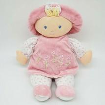 "12"" Kids Preferred Baby Doll Lovey Blonde Hair Blue Eyes Bonnet Baby Toy... - $19.99"